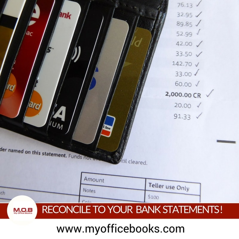 Reconcile your credit card and bank statements