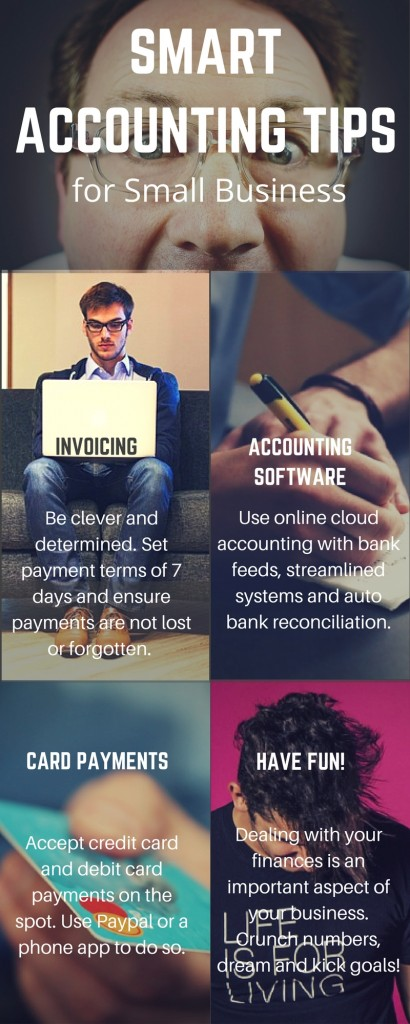 Smart accounting tips for small business infographic
