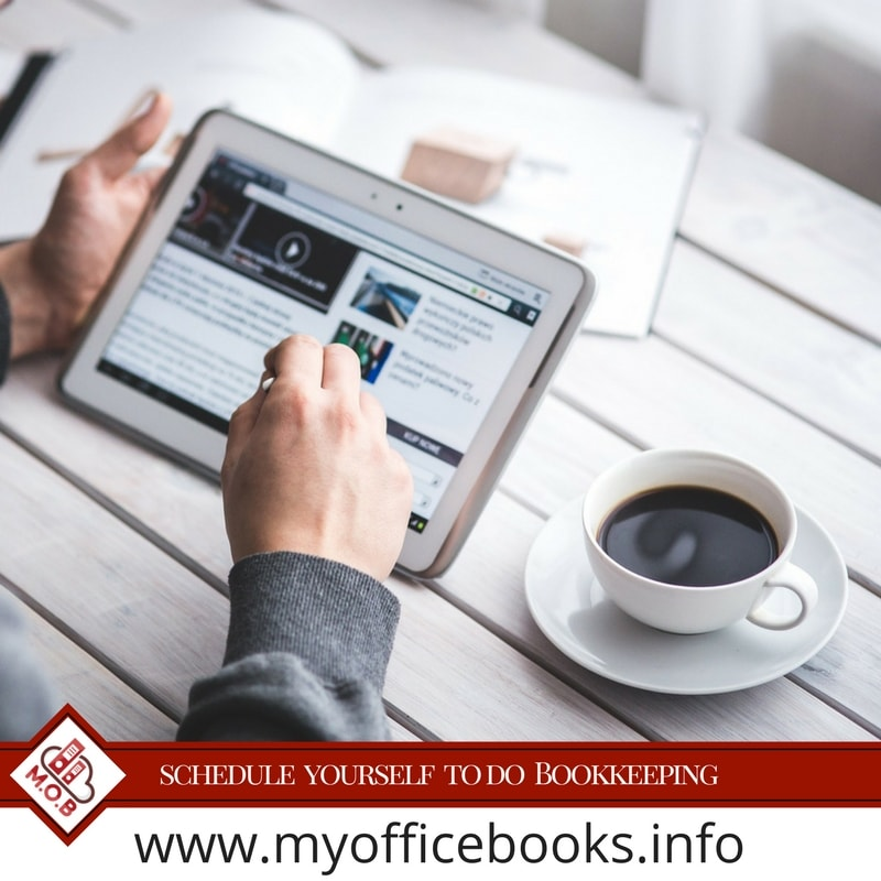 Schedule your bookkeeping easily