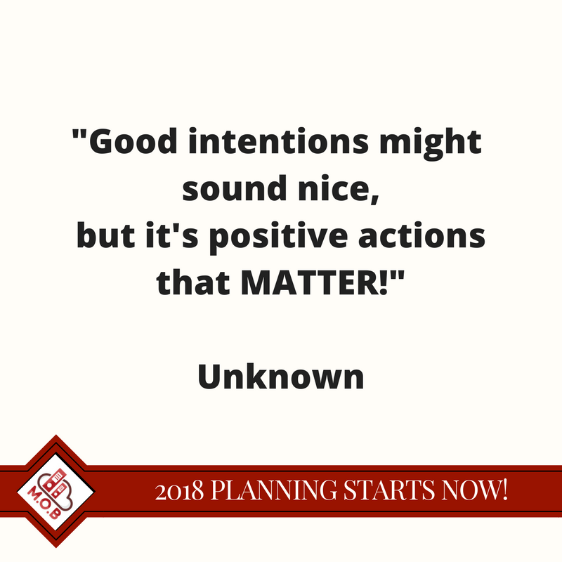 Good intentions are not a plan