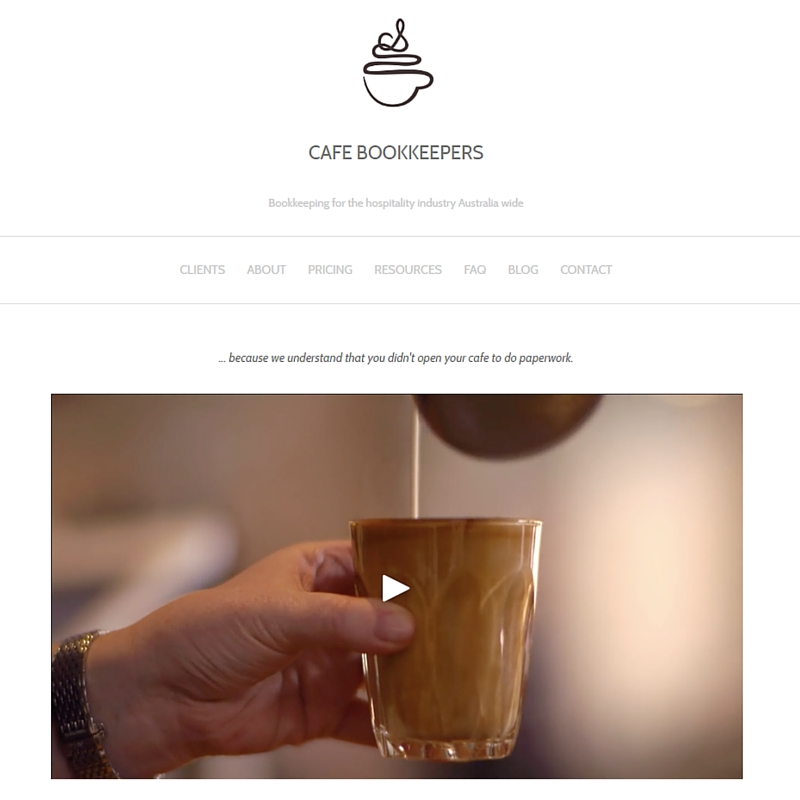 Cafe Bookkeepers are a fantastic example of finding your Industry Focus